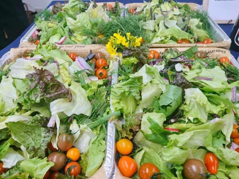 安西農園さん、大紺屋農園さん、たてやまかおり菜園さんの新鮮な野菜たち
