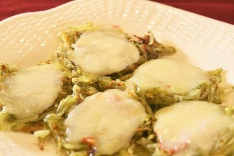 カチョカバロのカリカリとろ~り青のり風味ミニハッシュドポテト(野菜ソムリエプロ安西理栄)